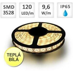 Berge LED pásek 120ks/m 3528 9.6W/m voděodolný-silikon 1m, Teplá bílá